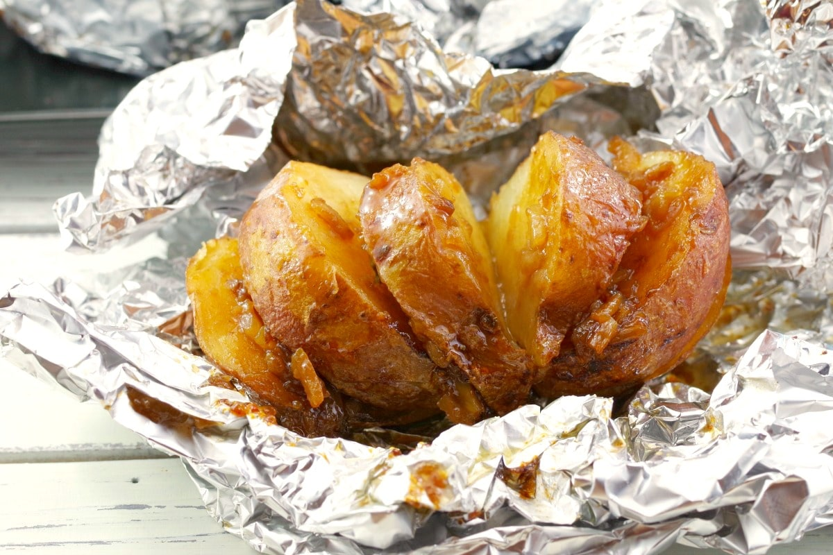 Baked Potatoes in Foil | with onion soup mix