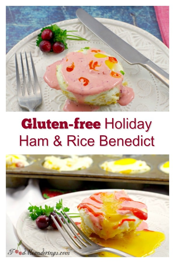 Healthy Gluten-free Holiday Ham & Rice Benedict | #rice #healthy' #glutenfree #eggsbenedict