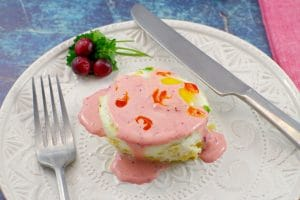 Gluten-free Eggs Benedict | Ham & Rice - foodmeanderings.com