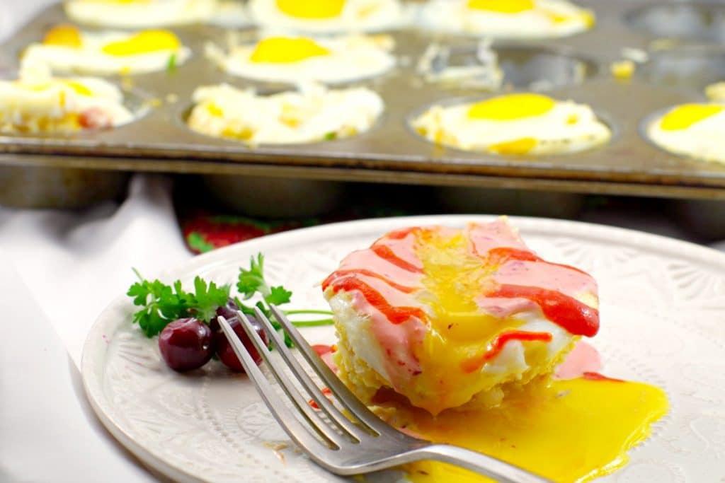 Gluten-free Eggs Benedict   Holiday Ham & Rice - foodmeanderings.com