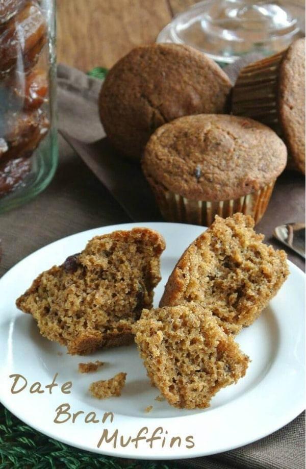 Healthy Date Bran Muffins