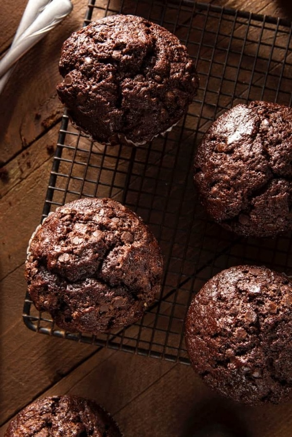 Healthy Double Chocolate Muffins - weight watchers friendly