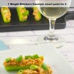 Skinny Buffalo chicken celery sticks | #wwrecipes #gameday #buffalochicken #skinnyrecipes
