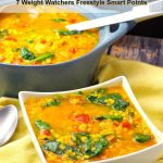 Easy Red Lentil Spinach Soup | #lentil #spinach #soup -foodmeanderings.com
