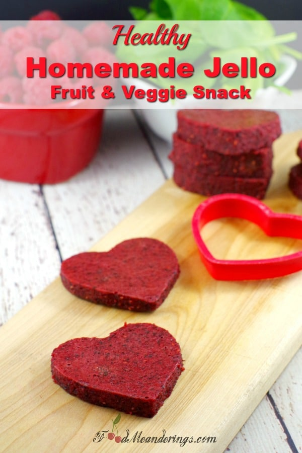Healthy Homemade Jello snack for kids - heart-shaped