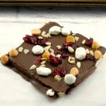 healthy rocky road square on a white surface