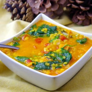 Red Lentil spinach soup | Weight Watchers Friendly - food meanderings