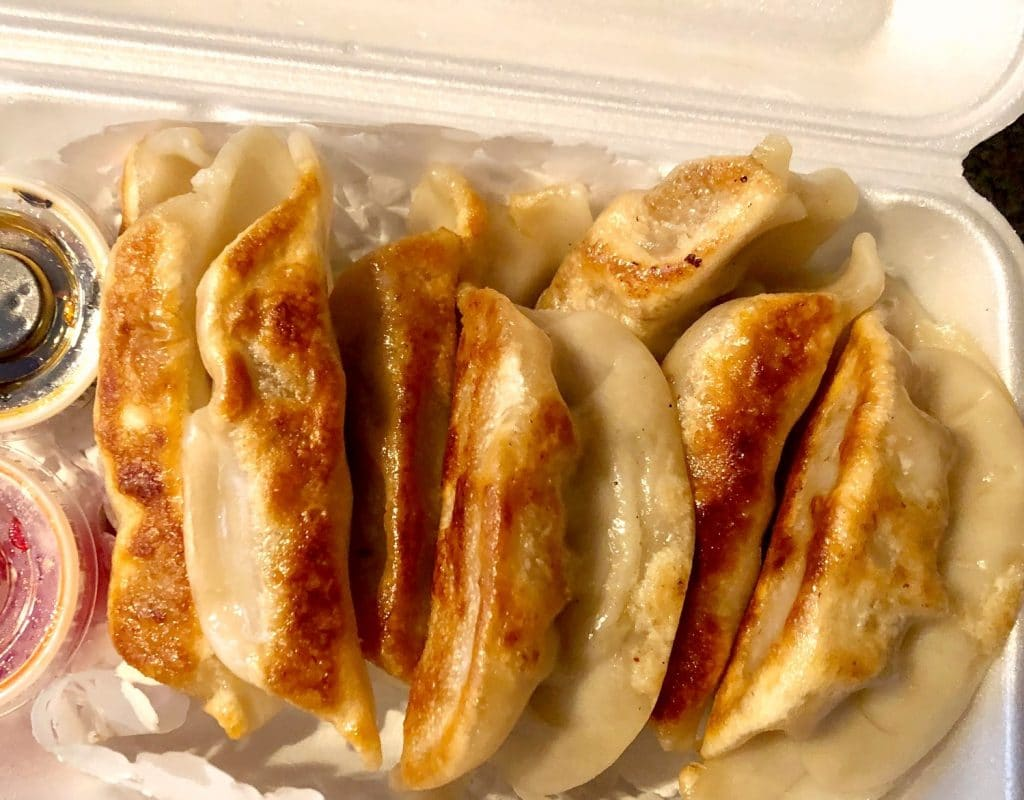 Take out potsticker dumplings