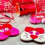 Cat Copkies   Valentine's Day Sugar Cookies