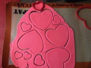 Cat cookies decorating step 1