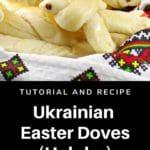 Ukrainian Easter doves in a basket