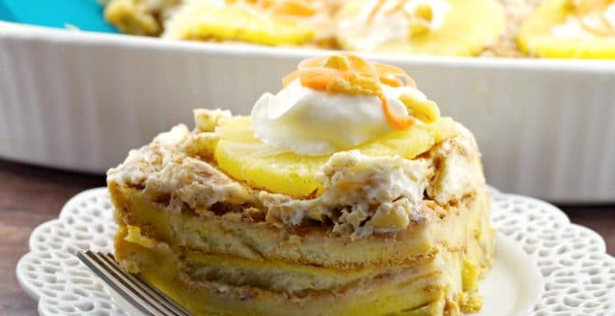 Carrot Cake Overnight French Toast Casserole