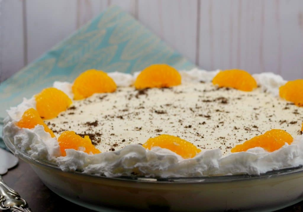 Whole dairy-free Orange Creamsicle pie