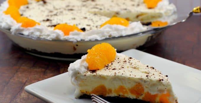 Dairy-Free Orange Creamsicle Pie