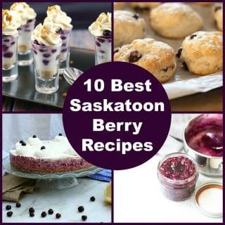 Collage of Saskatoon Berry Recipes