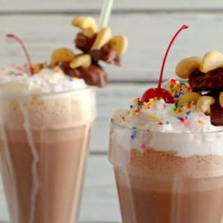 2 bear claw milkshakes