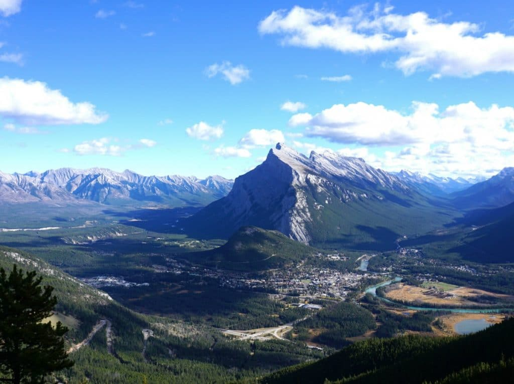 Mountain view of Banff Alberta