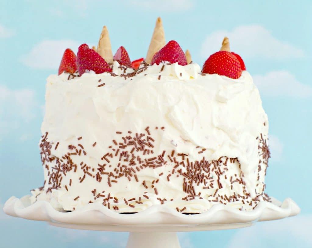 Whole Neapolitan Ice Cream Cake