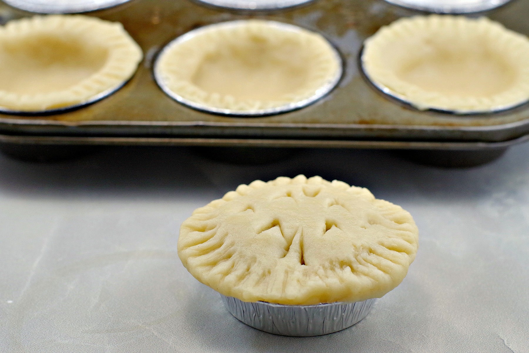 Tarts shells made with no fail pie crust