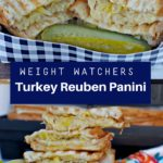 Collage of photos of Turkey Reuben Sandwiches
