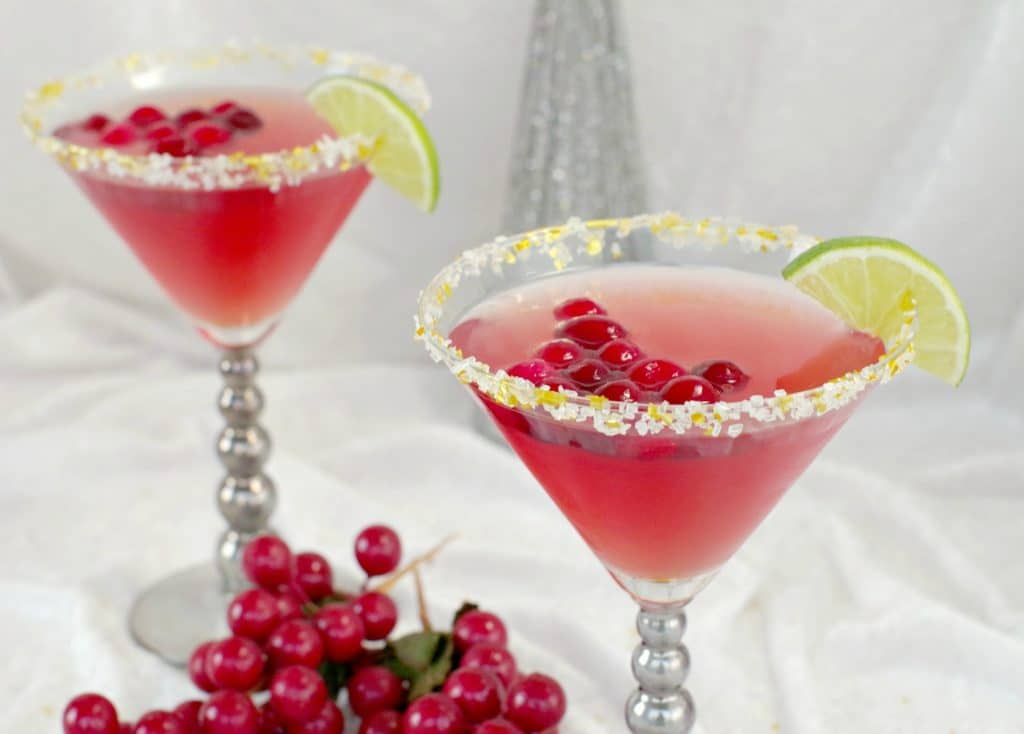 2 cranberry cosmo mocktails