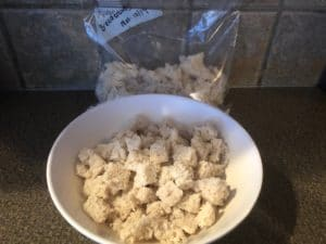 Bread crumbs saved in ziplock for future use