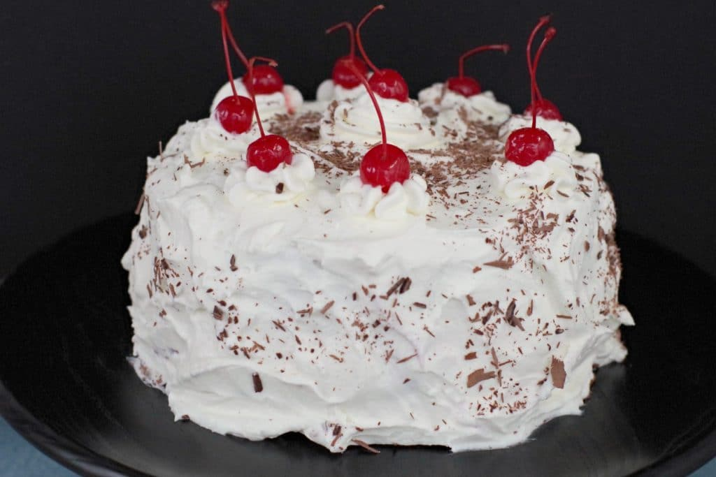 Black Forest Cake with Stabilized Whipped Cream Icing