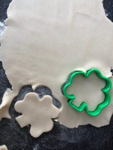 cookie cutters cutting out tart shells