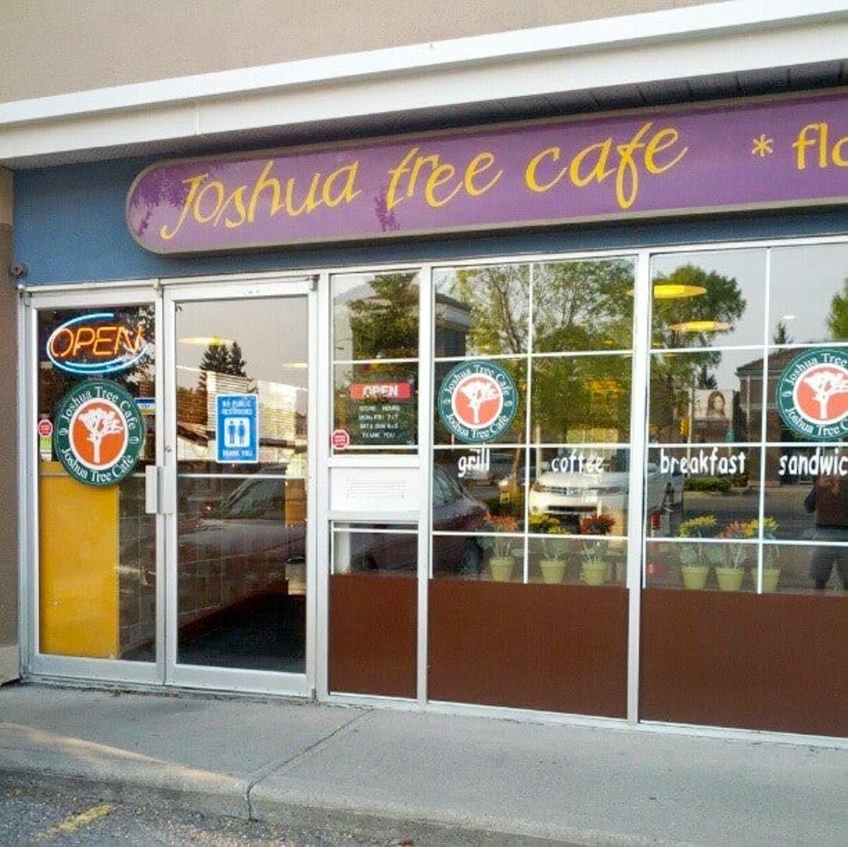 storefront of Joshua tree cafe Calgary