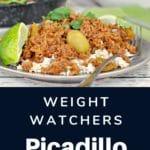 Picadillo on rice