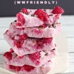 pieces of frozen yogurt bark stacked