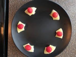 add raspberry on top of pineapple