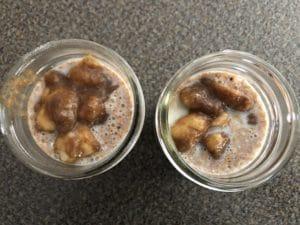 banana added to jars