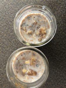 banana mixture stirred into oat mixture
