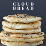 6 pieces of everything cloud bread stacked up