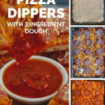 pinterest pin with 4 photos of healthy pizza dippers