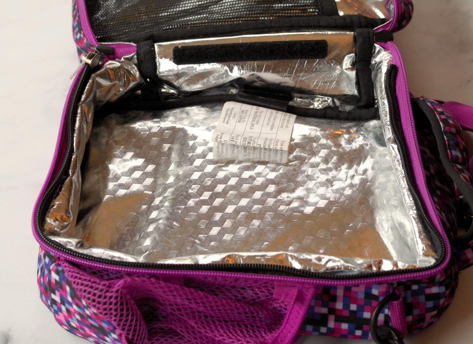 inside of an empty lunch box