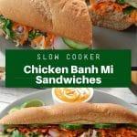 slow cooker chicken banh mi sandwich