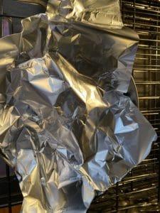 tin foil covering kolach