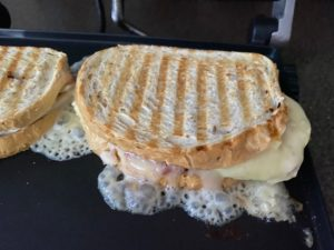 sandwiches cooked on grill