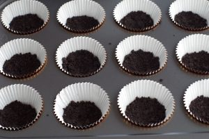 base pressed into bottom of cupcake liners