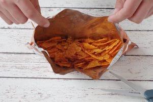 tortilla chip bag open