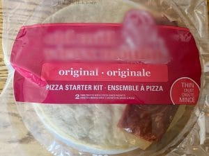 ready made pizza crust with sauce starter kit