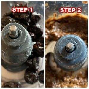photos of steps to make prune puree