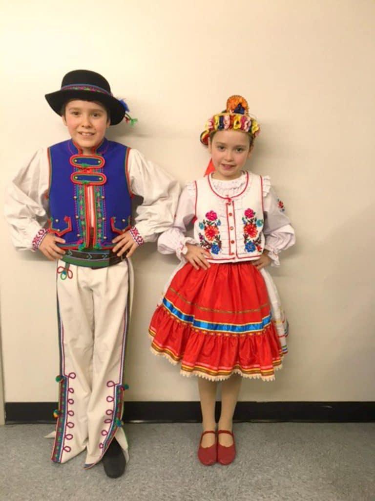 kids in their Ukrainian dance costumes